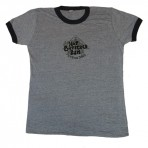 Old School HBRSB Logo Ladies Ringer T-shirt (Blue Ash)