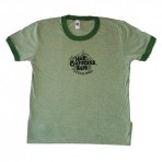 Old School HBRSB Logo Ladies Ringer T-shirt (Lt. Green)
